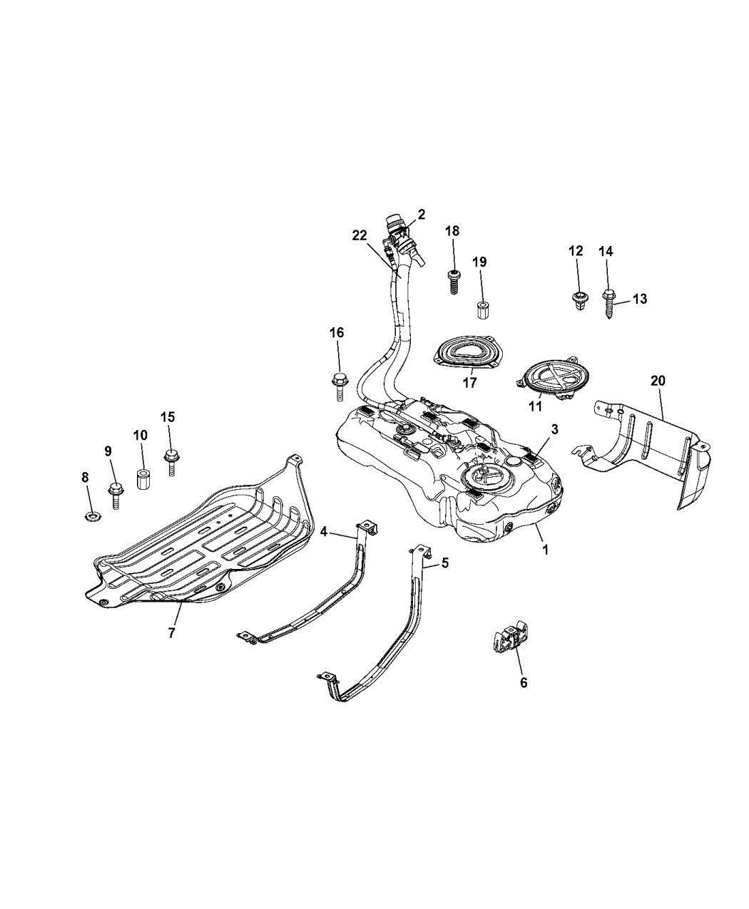 68372070AA - Genuine Mopar TUBE-FUEL FILLER