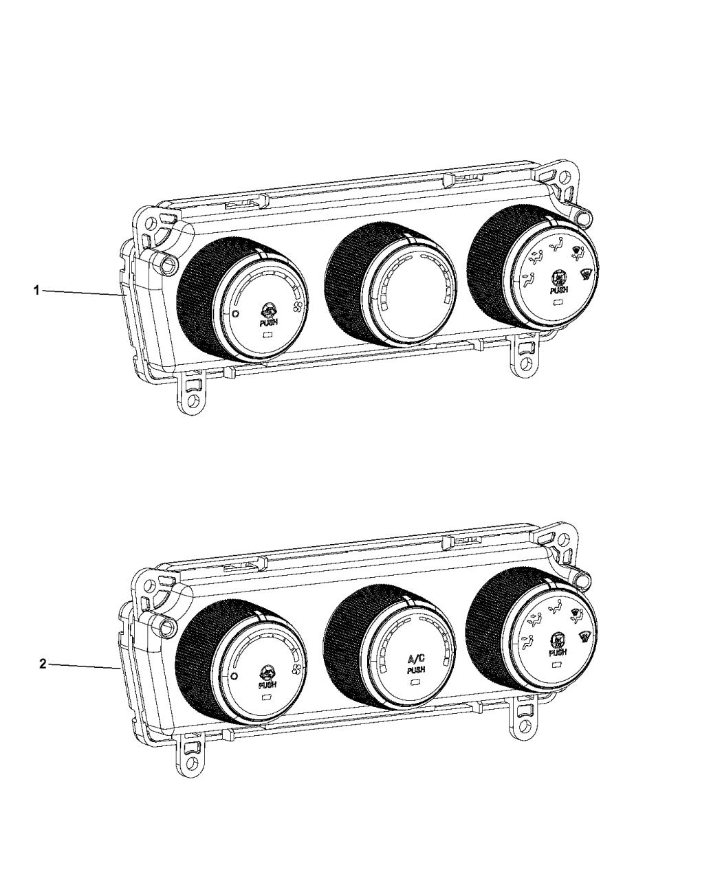 2016 Ram Promaster 1500 A  C  U0026 Heater Controls