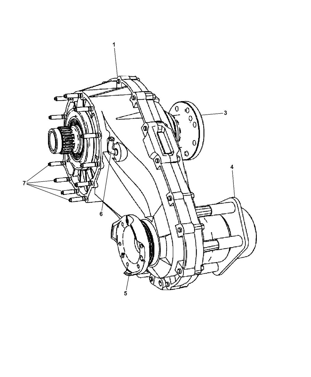 2007 Jeep Commander Transfer Case embly & Identification Jeep Commander Transfer Case Wiring Diagram on