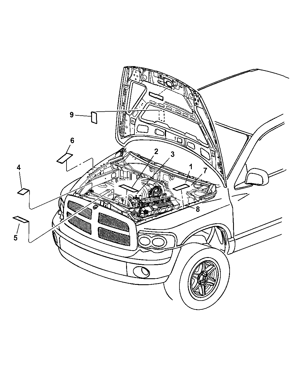 68000734aa Genuine Mopar Label Emission