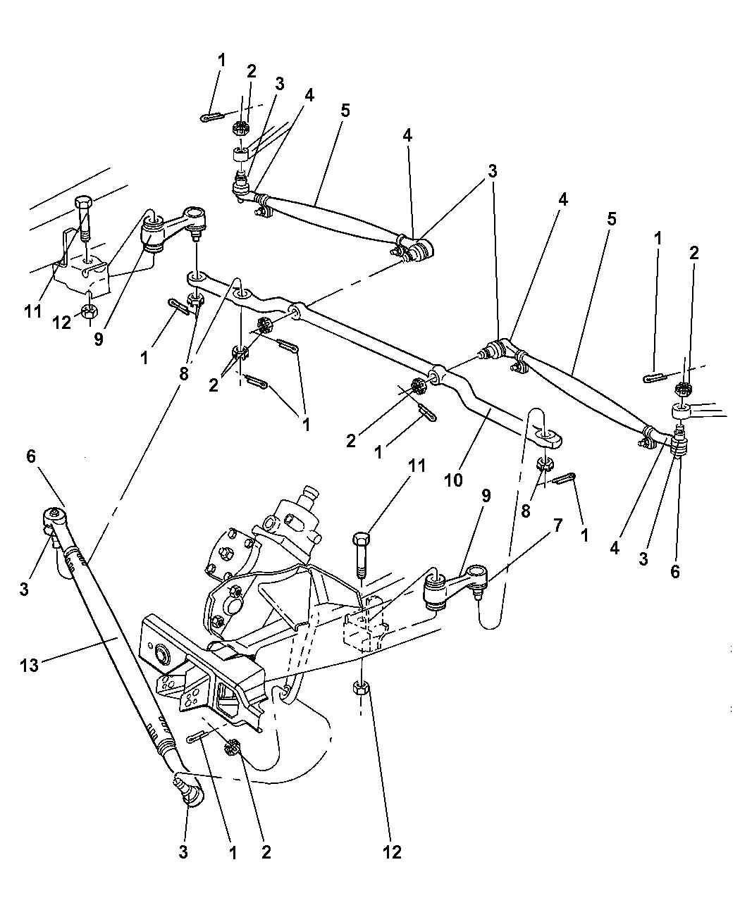 1997 dodge ram van steering linkage - thumbnail 1