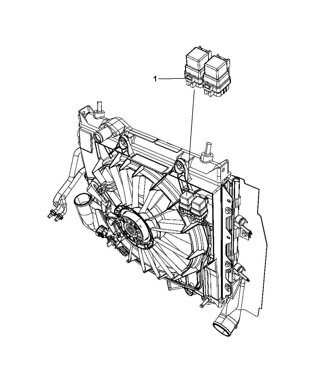 68071638aa Genuine Mopar Relay Radiator Fan