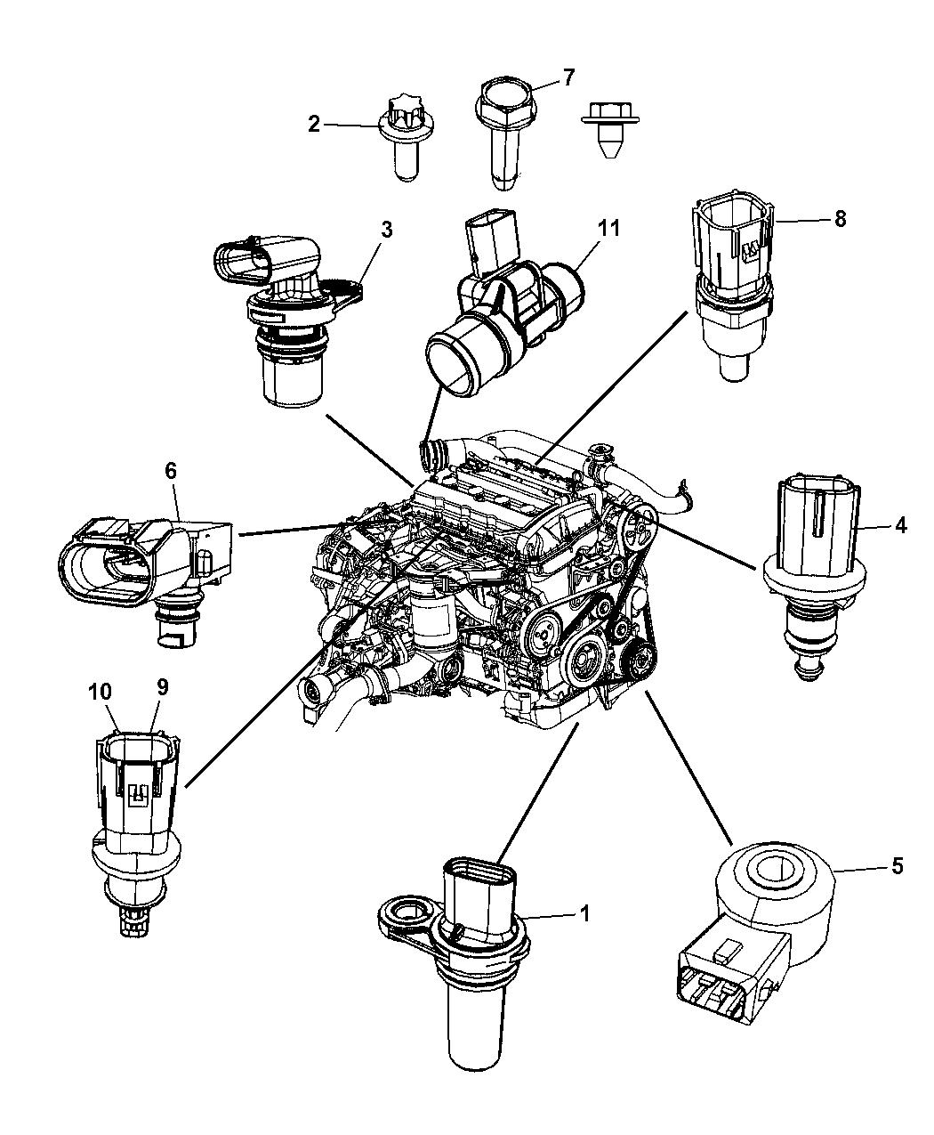 2009 Dodge Caliber Sensors - Engine - Mopar Parts Giant