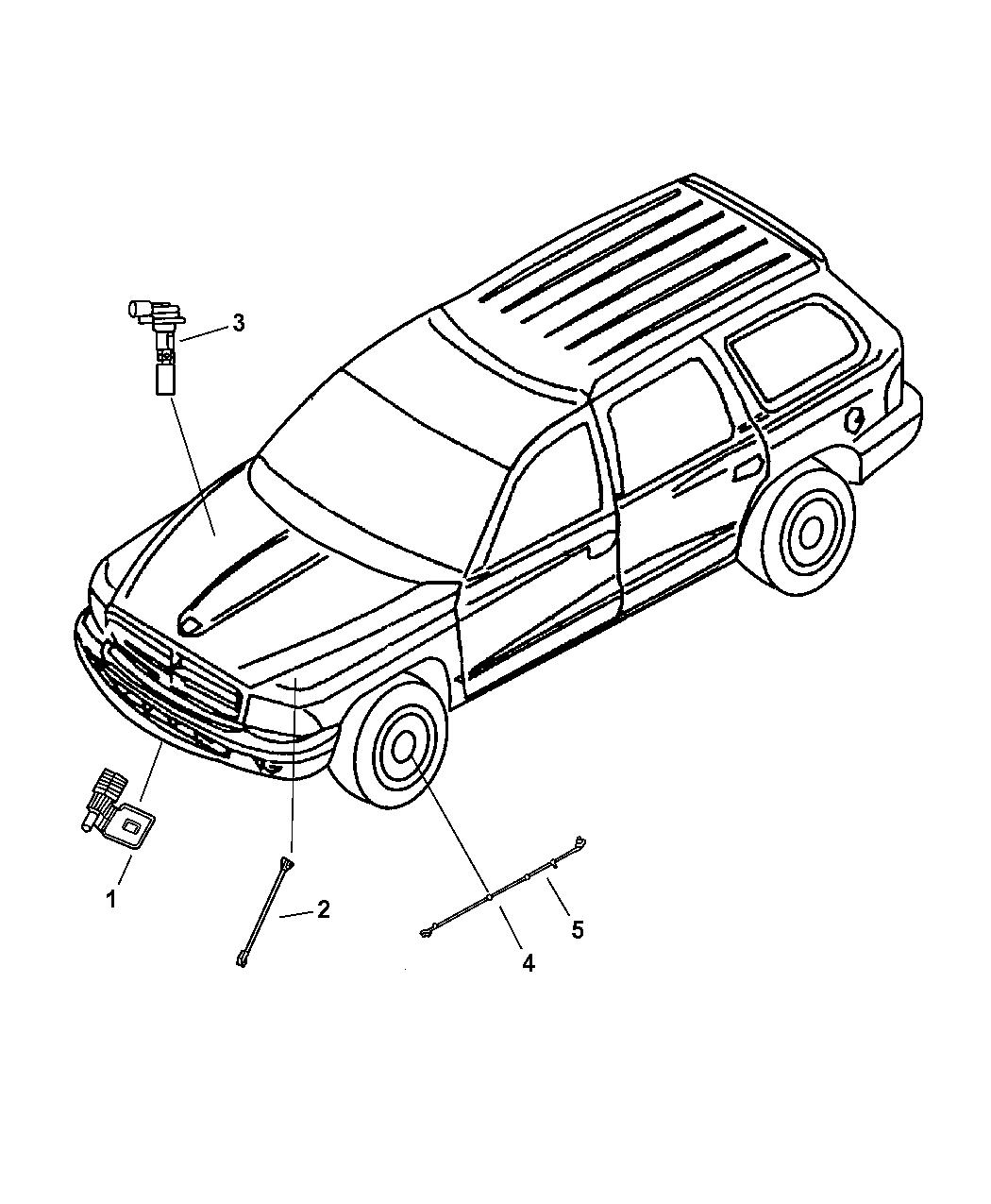 2001 Dodge Durango Sensors Body