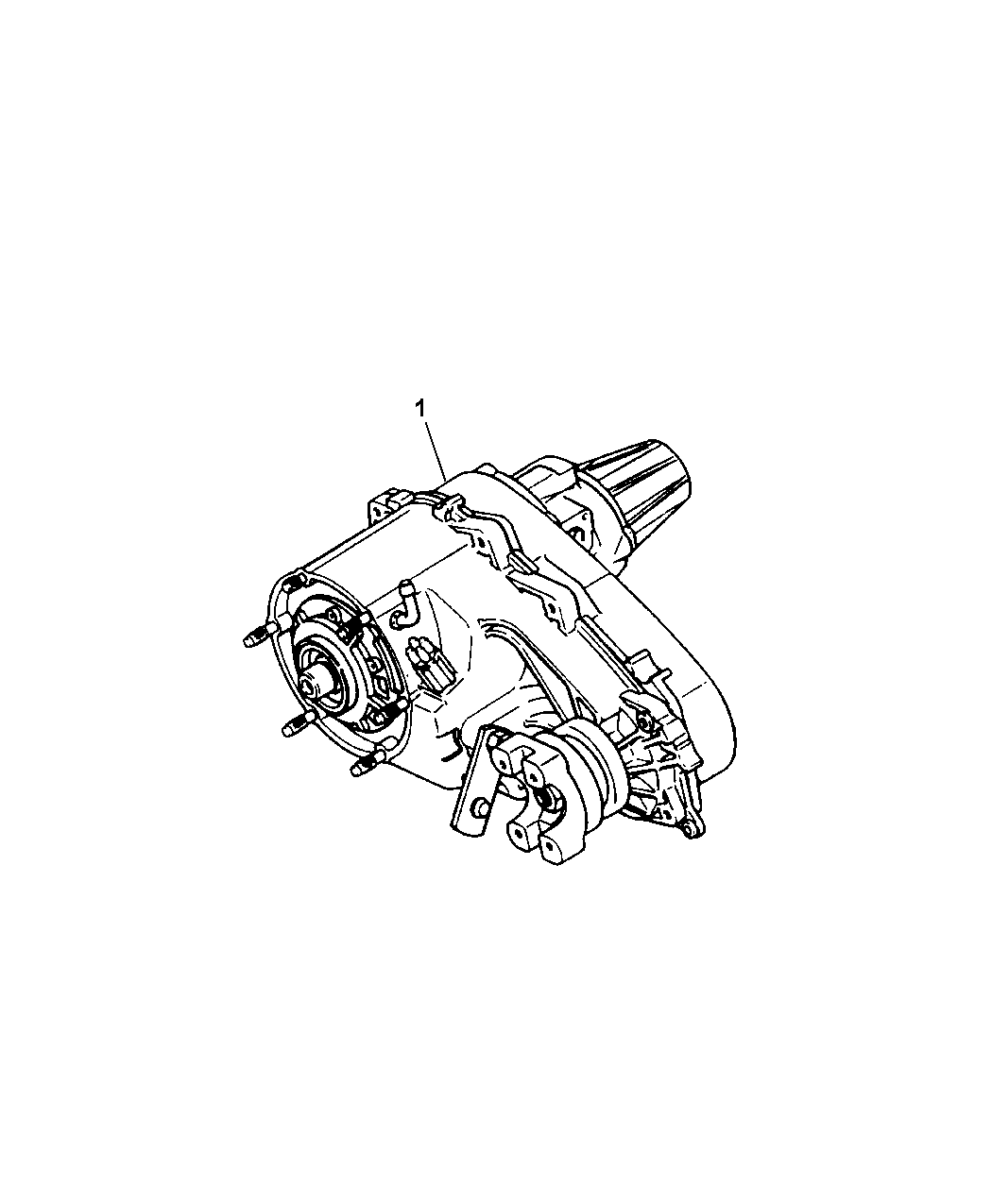2003 Jeep Grand Cherokee Transfer Case - Diagram 1