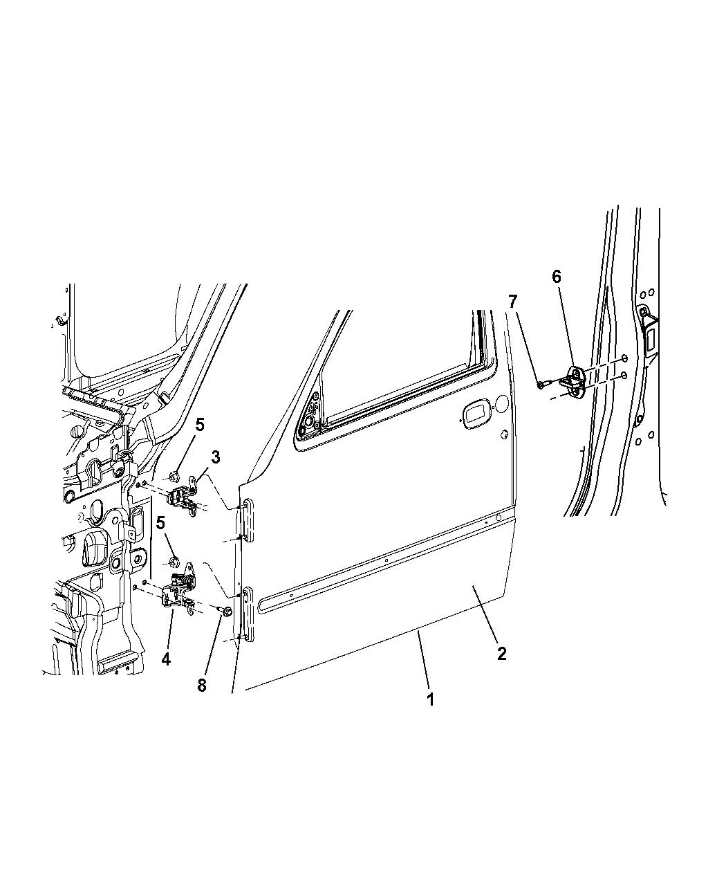 55396980ac genuine jeep door front. Black Bedroom Furniture Sets. Home Design Ideas