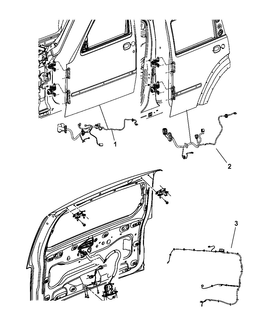 68061553aa Genuine Dodge Wiring Rear Door Nitro 2010 Deck Lid And Liftgate