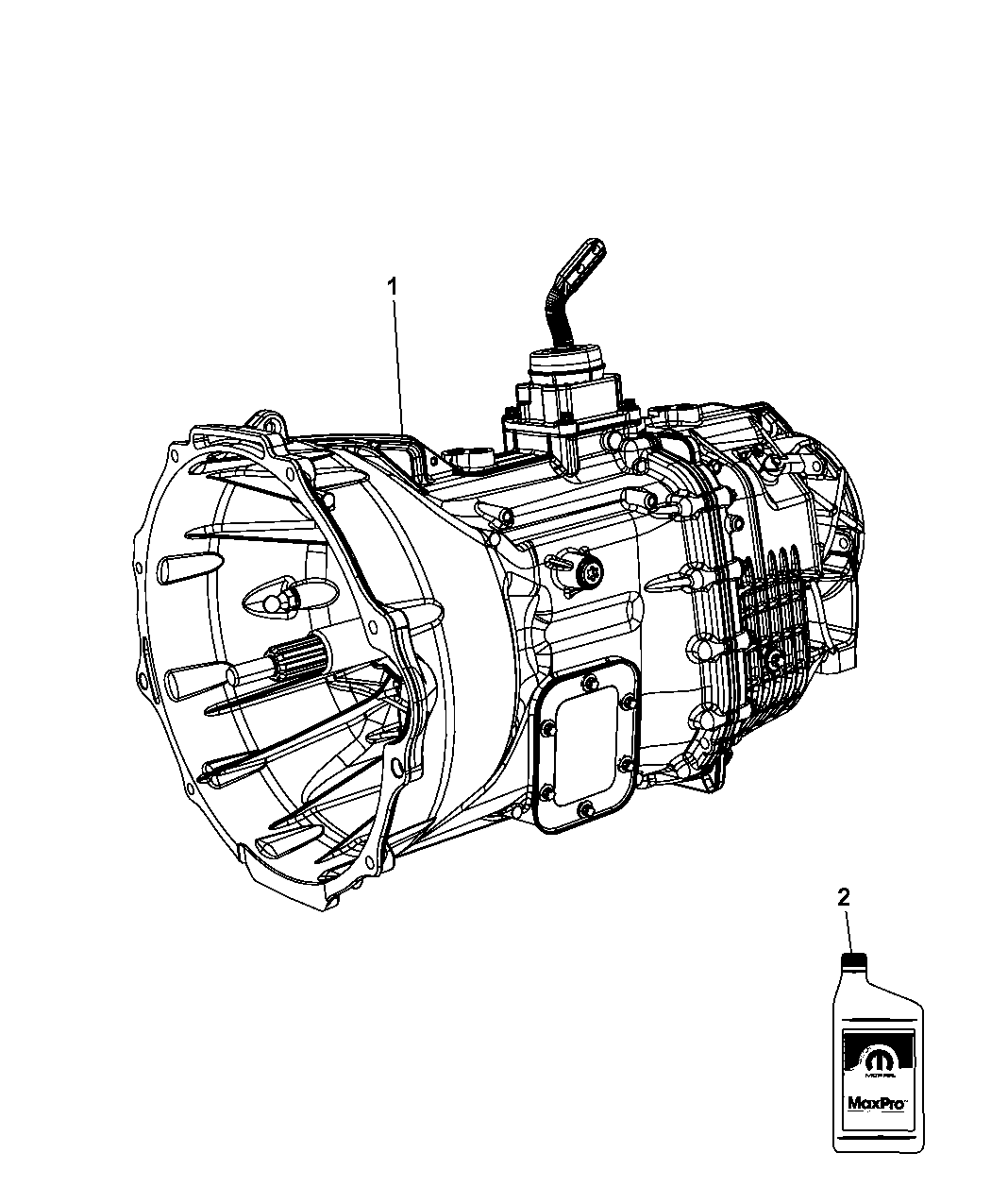 2015 Ram 4500 Transmission / Transaxle Assembly of Manual