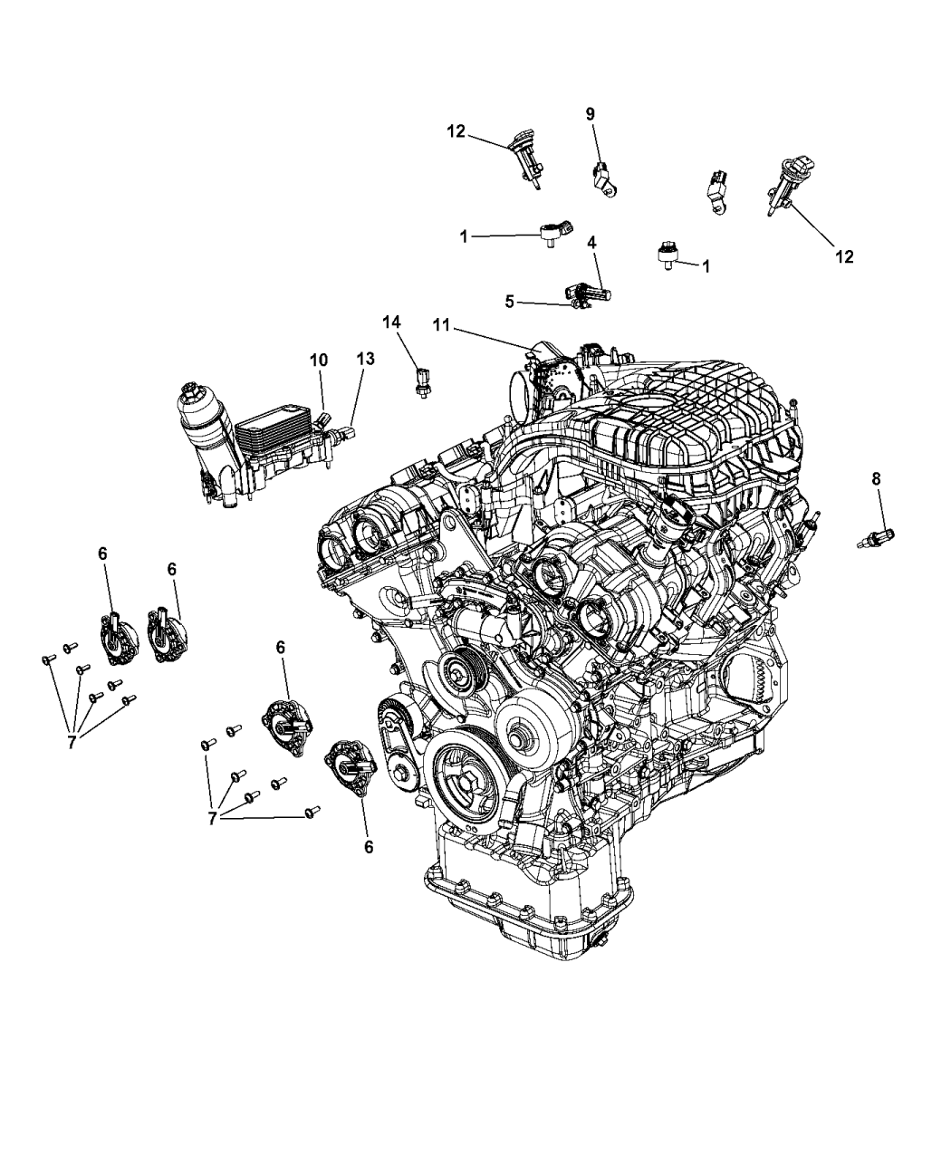 2015 Dodge Grand Caravan Sensors - Engine
