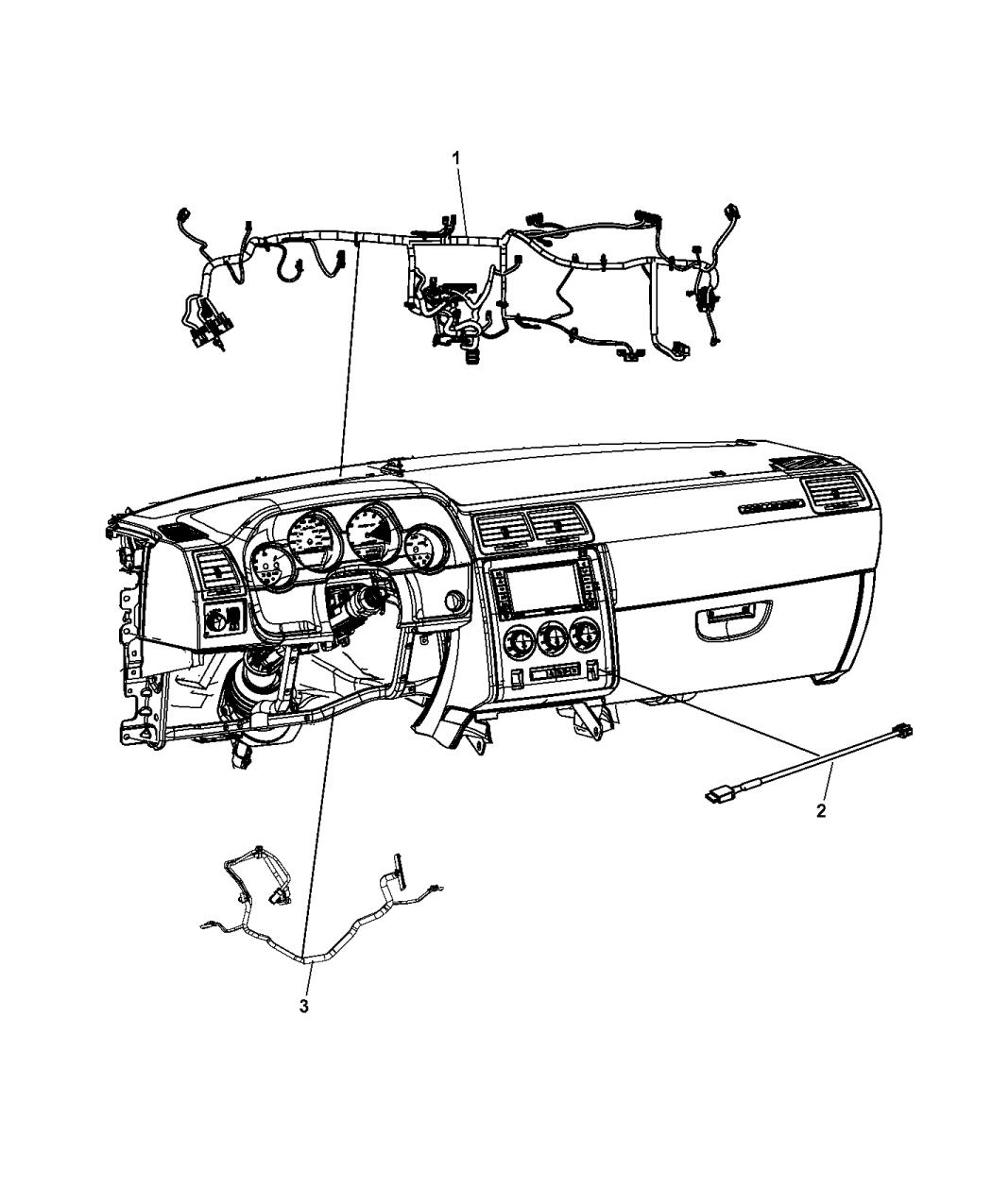 2016 Dodge Challenger Wiring Instrument Panel
