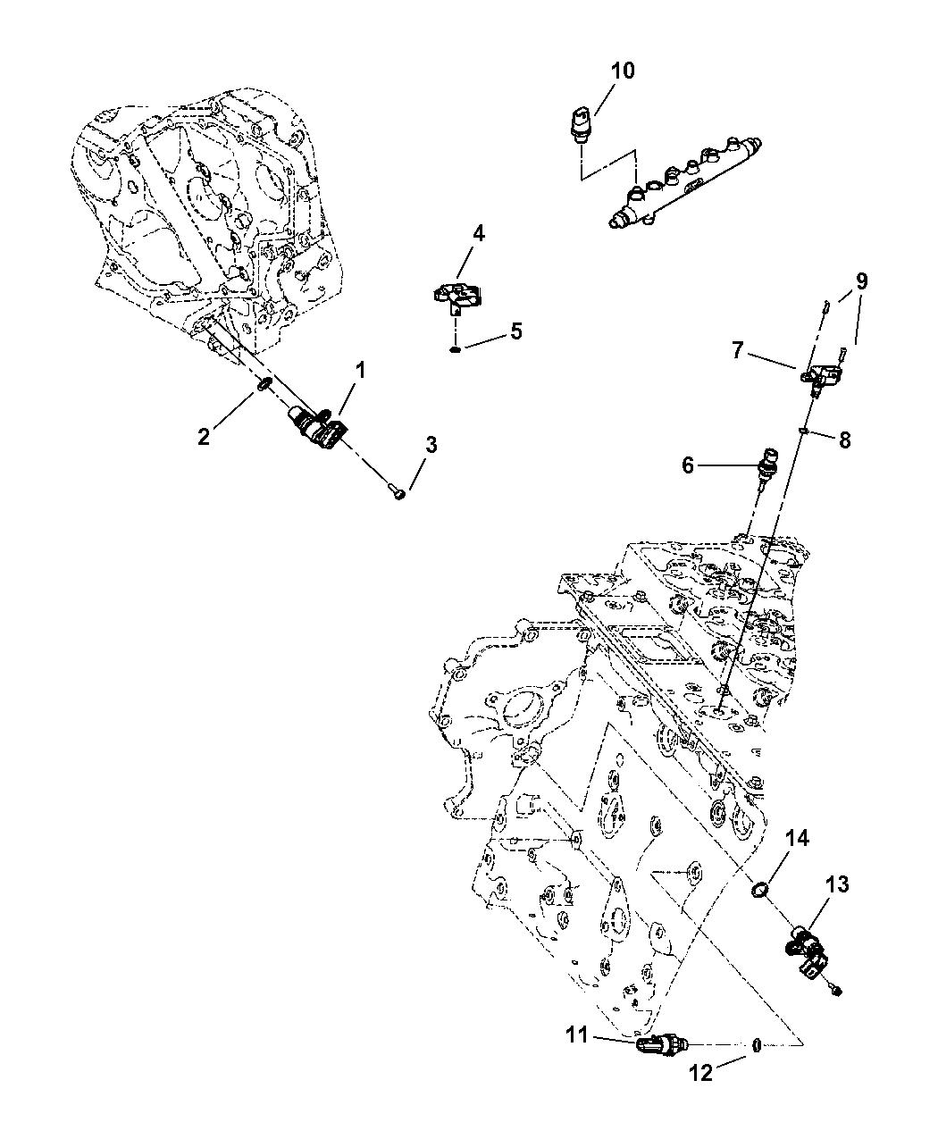 5093101AA - Genuine Mopar SENSOR-ENGINE SPEED