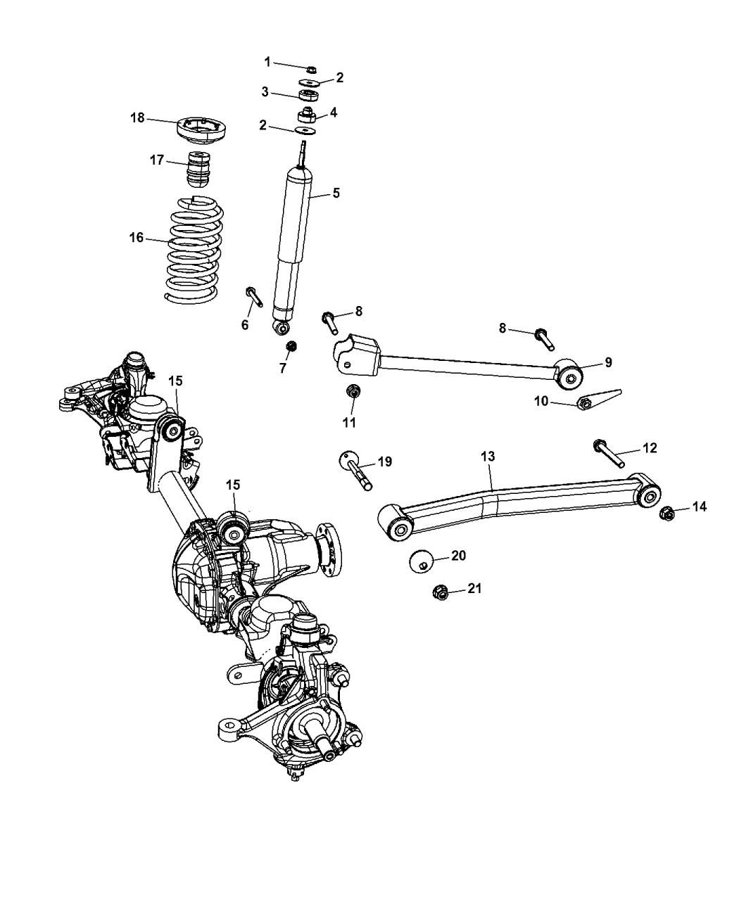2016 Jeep Wrangler Suspension Front Springs Shocks Control Arms Diagram