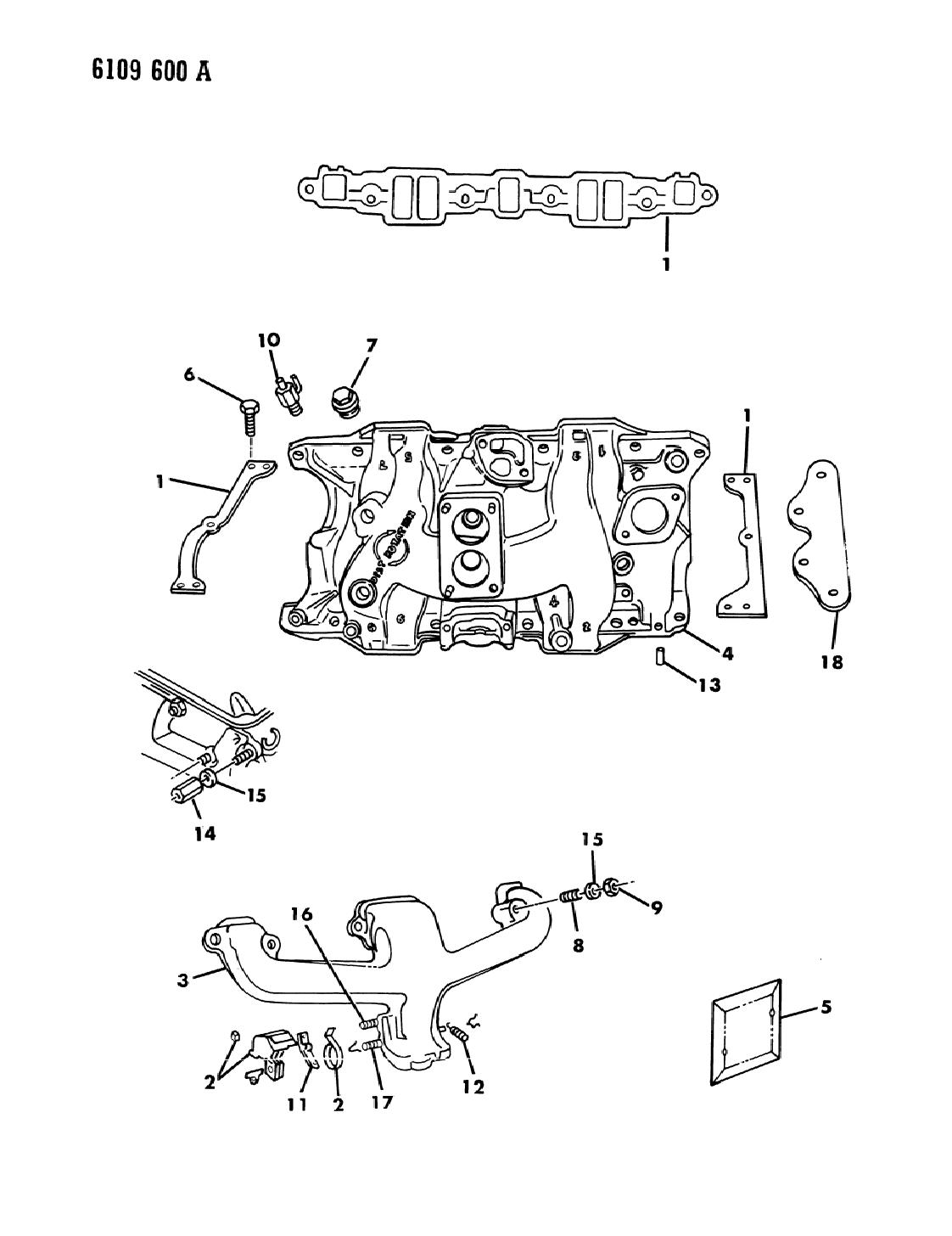 1986 Dodge Diplomat Manifold - Intake & Exhaust