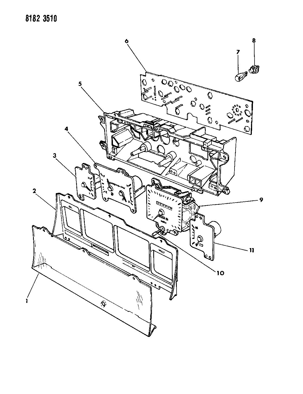 1988 Chrysler New Yorker Base Model Instrument Panel Cluster Wiring Diagram