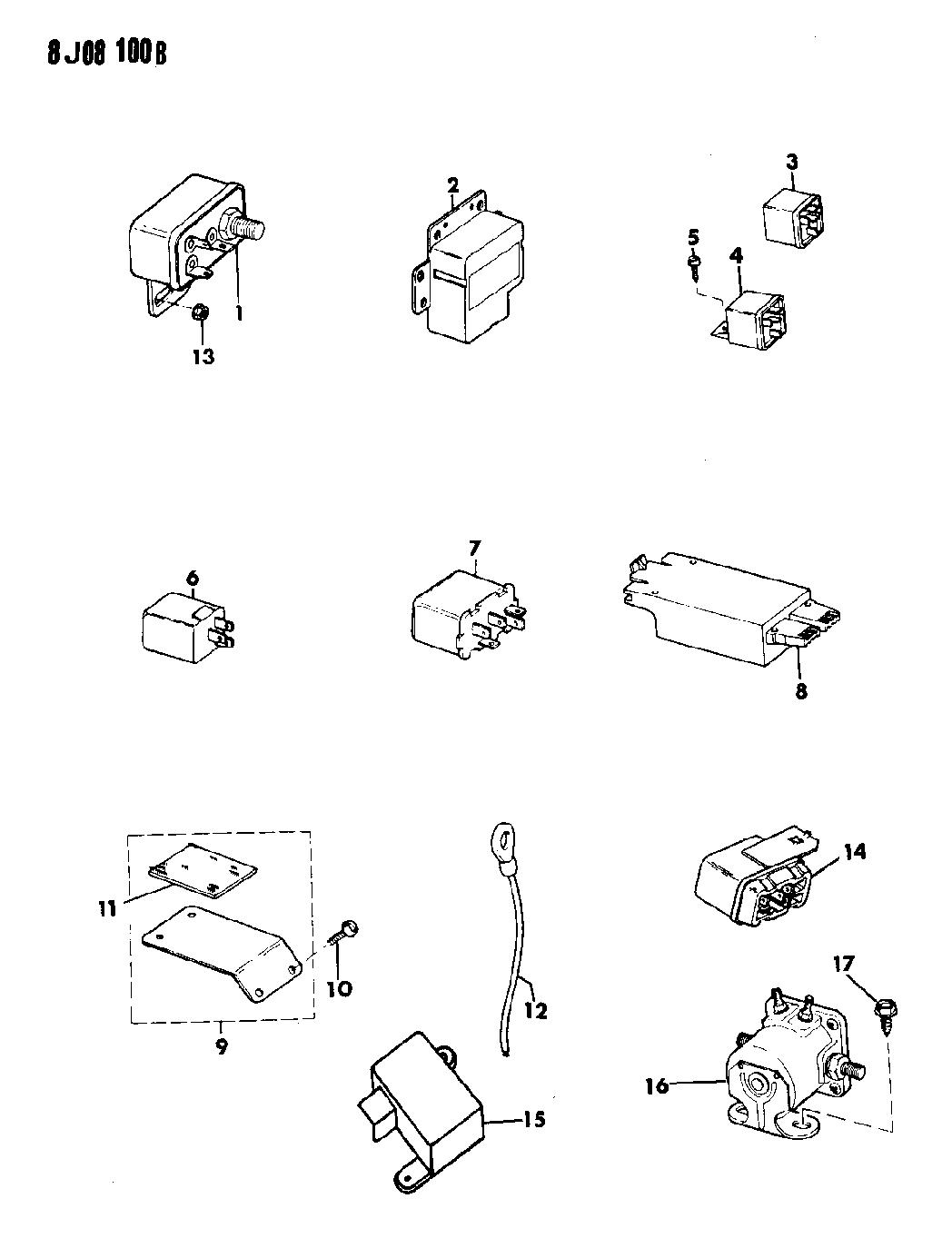 1990 Jeep Wrangler Relays
