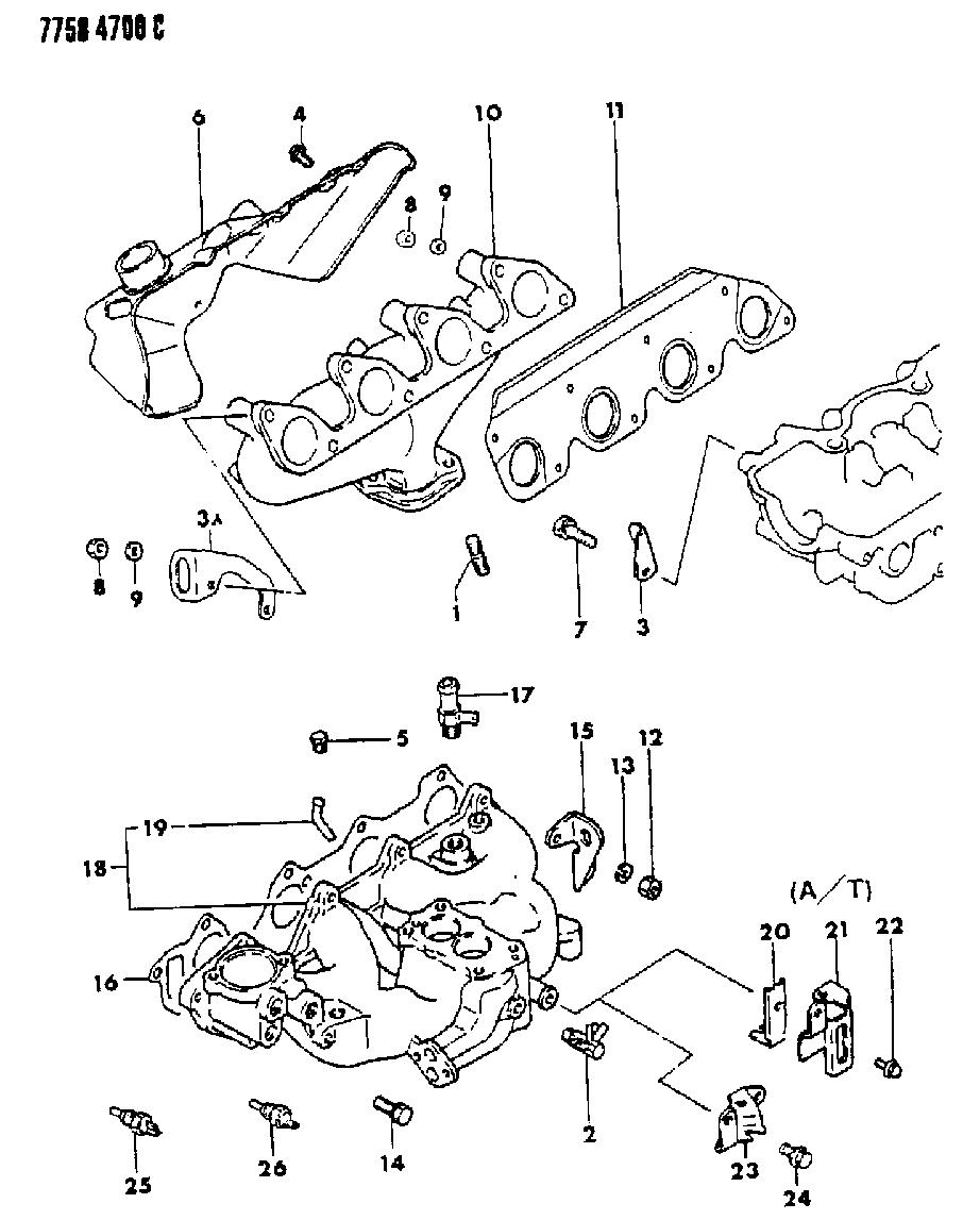 1988 Dodge Ram 50 Manifold - Intake & Exhaust - Thumbnail 2