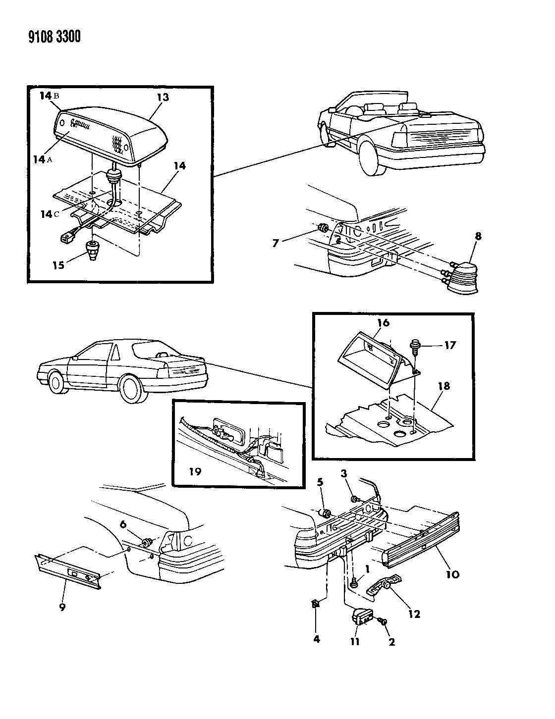 1989 Chrysler Lebaron Gtc Lamps Wiring Rear Diagram