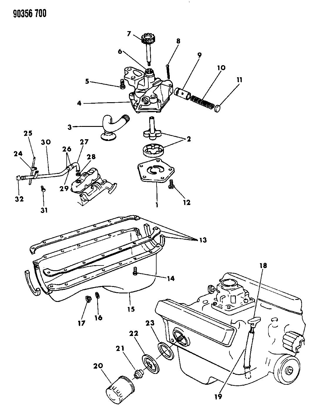 3671602 Genuine Mopar Adapter Oil Filter To Cylinder Blk