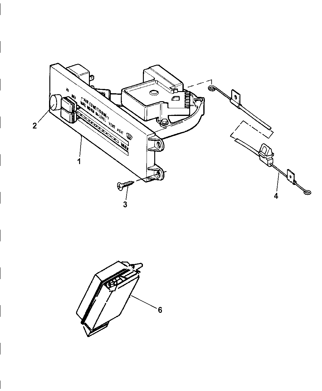1997 Jeep Wrangler Control, Heater And Air Conditioner