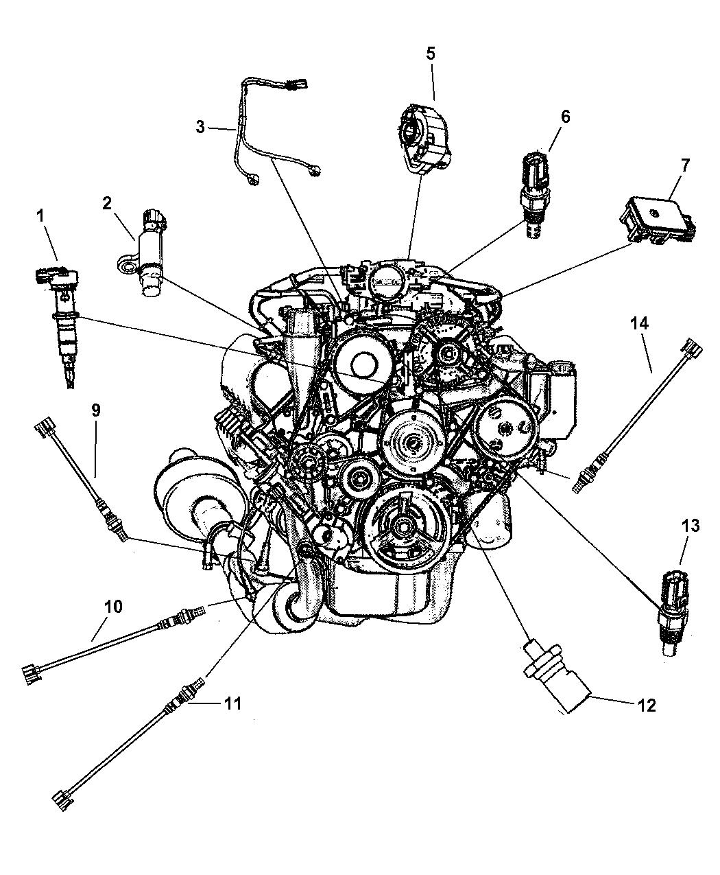 2003 Jeep Grand Cherokee Sensors - Engine
