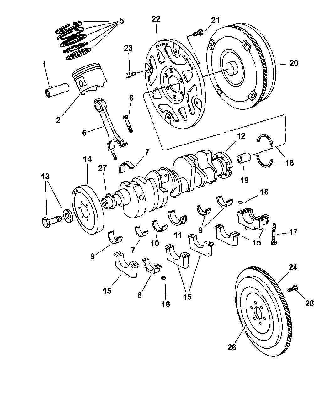 Genuine Dodge DAMPER-CRANKSHAFT
