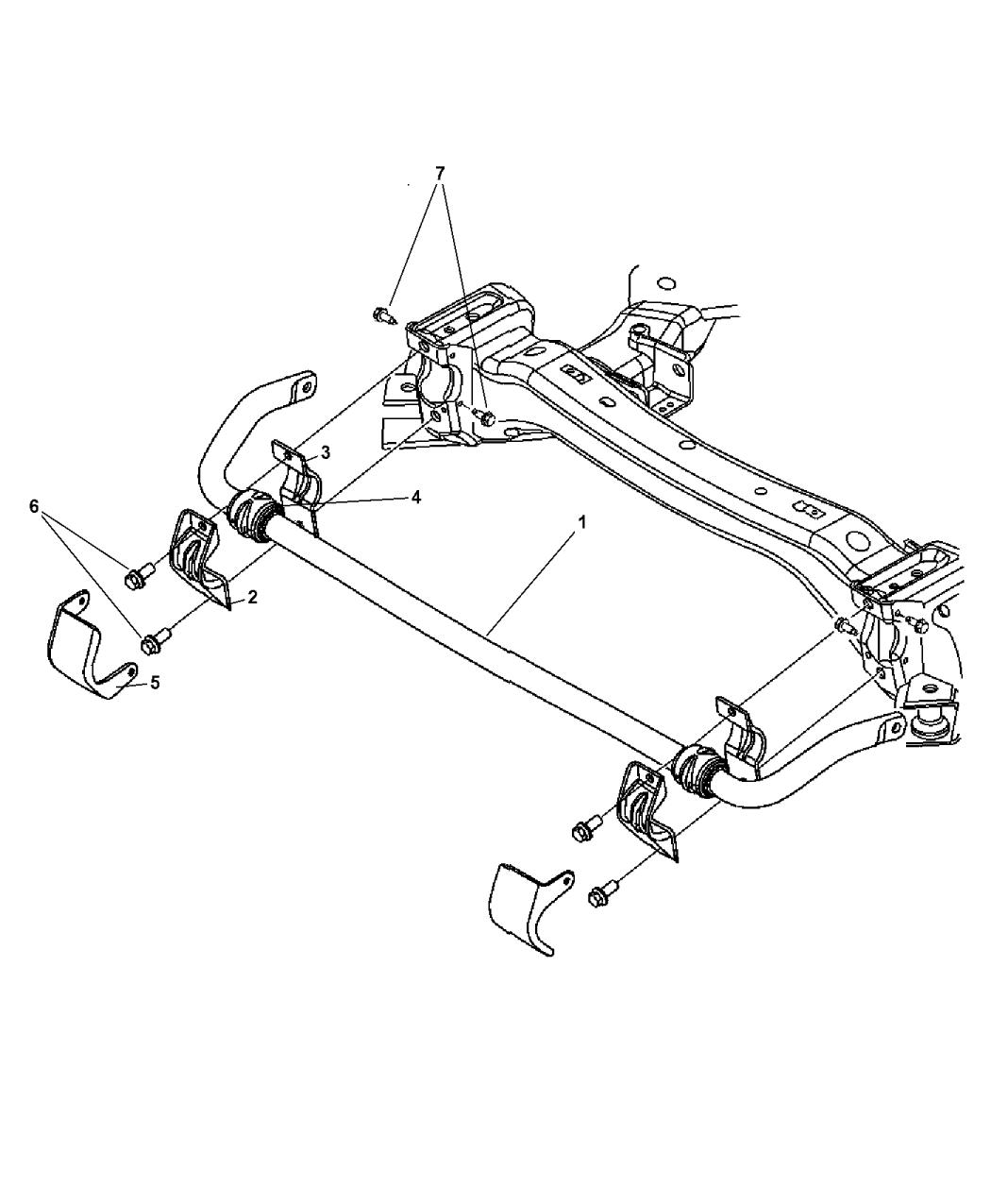 2007 Dodge Charger Front Stabilizer Bar - Mopar Parts Giant
