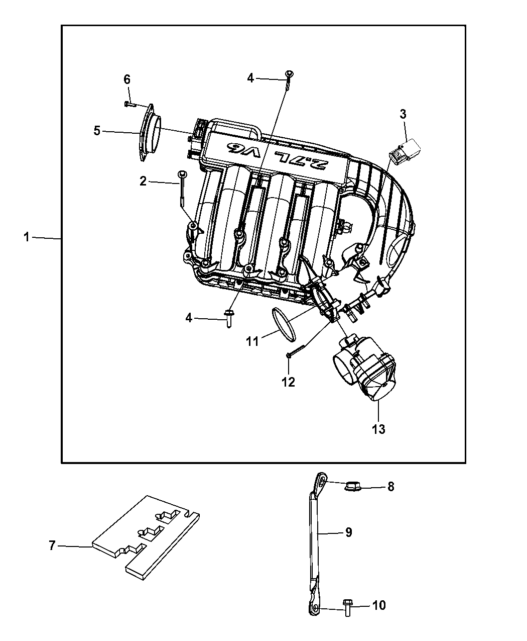 2008 Dodge Magnum Intake Manifold Mopar Parts Giant Engine Diagram Thumbnail 2