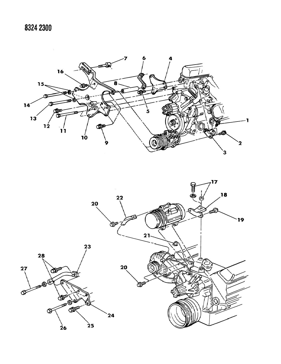 1988 Dodge Ram Van Mounting - A/C Compressor - Mopar Parts Giant