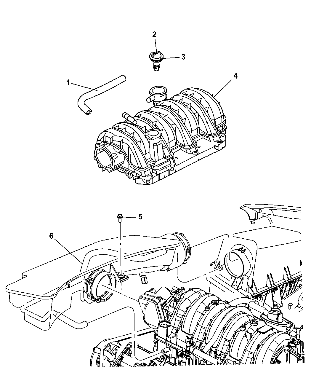 2011 jeep grand cherokee crankcase ventilation - thumbnail 1