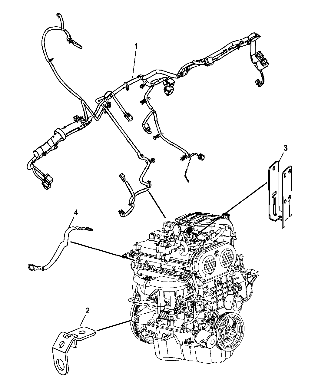 2006 Jeep Liberty Wiring Engine Related Parts Thumbnail 1