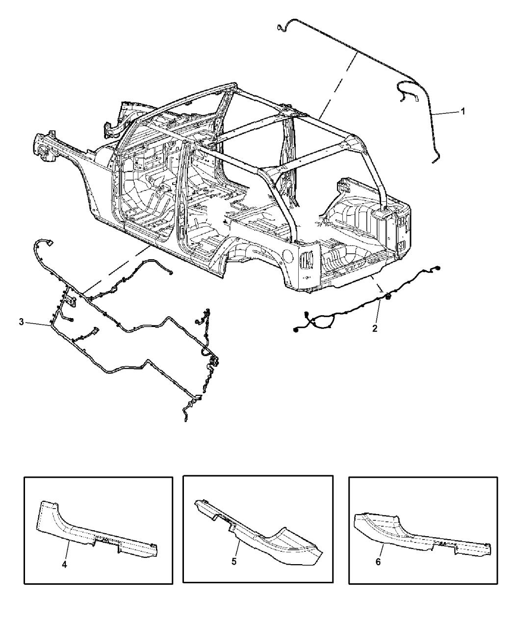 2015 Jeep Wrangler Wiring Body Accessory Mopar Parts Giant
