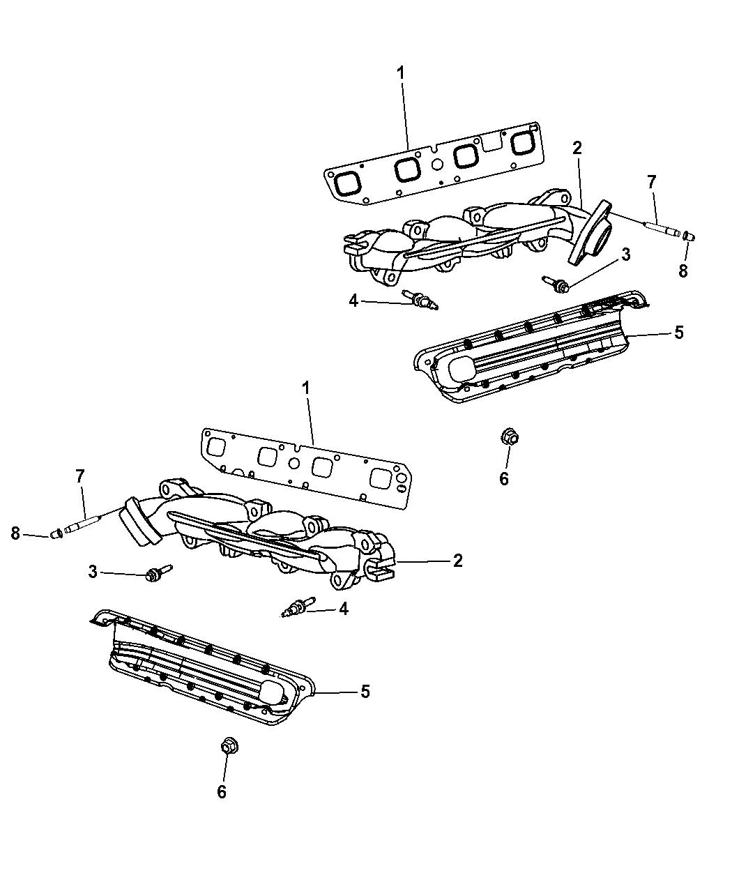 Genuine Chrysler 4792766AA Exhaust Manifold Shield