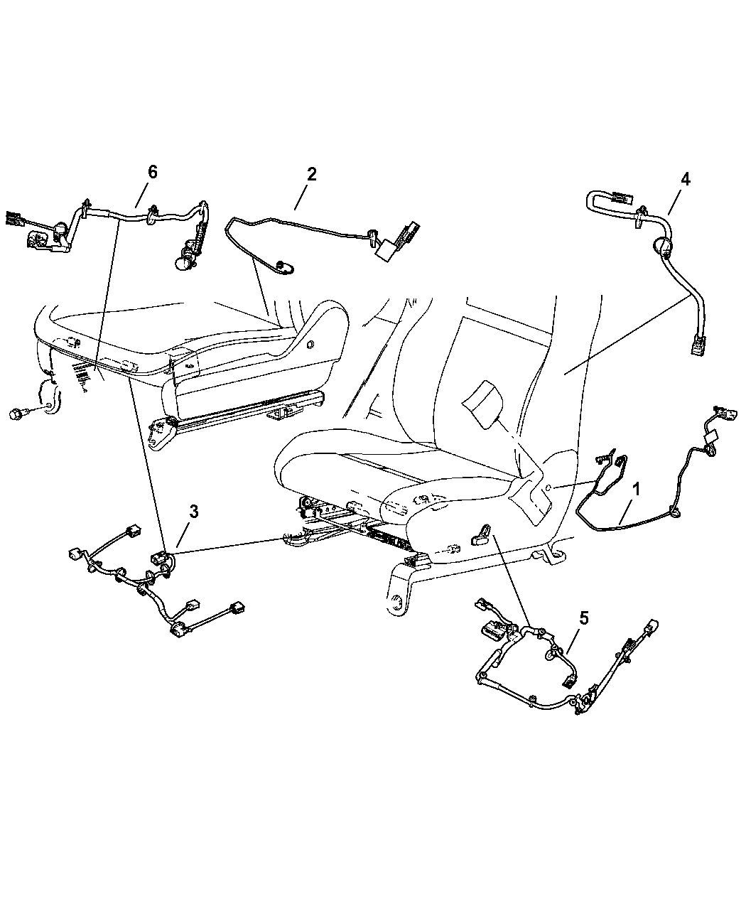 2008 Jeep Grand Cherokee Wiring - Seats Front