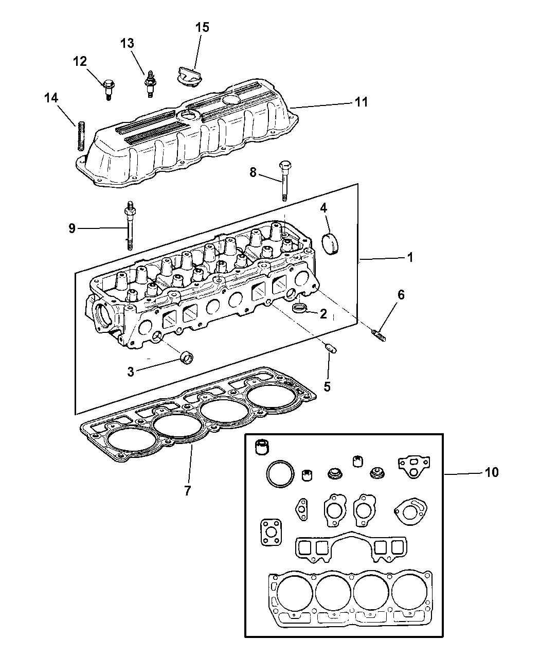 1997 Jeep Cherokee Cylinder Head - Thumbnail 1