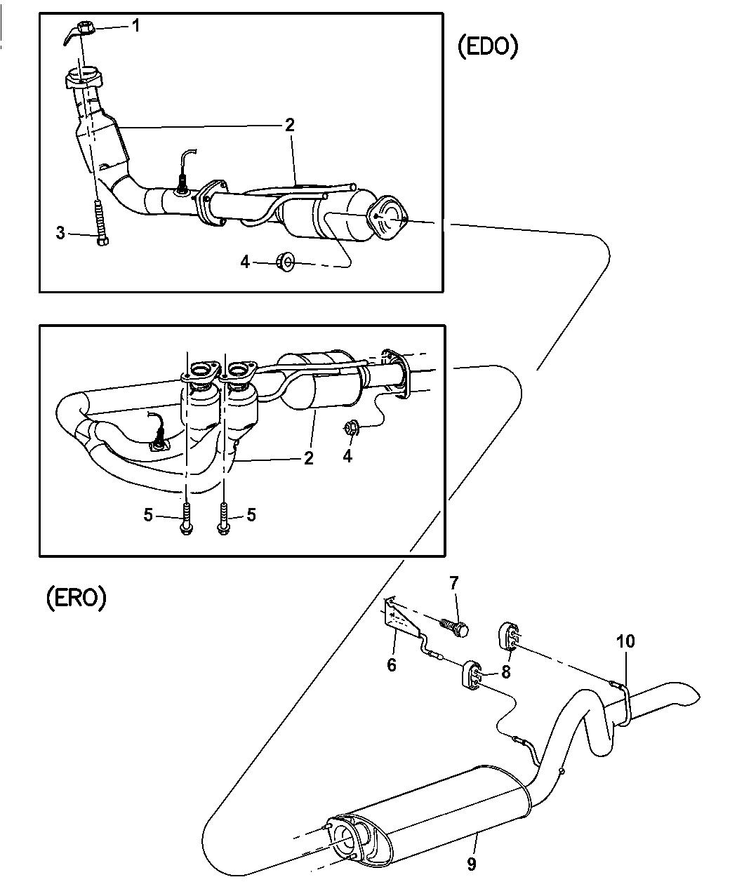 52019408ac genuine jeep hanger muffler yj ignition diagram 2006 jeep wrangler exhaust system