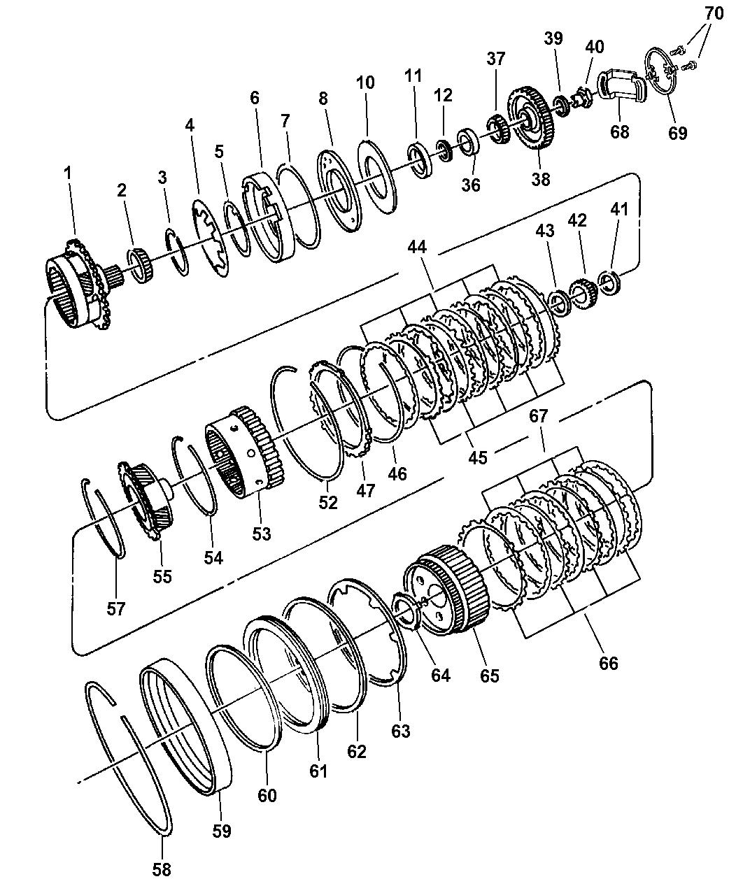 1998 Dodge Stratus Gear Train of Automatic Transmission