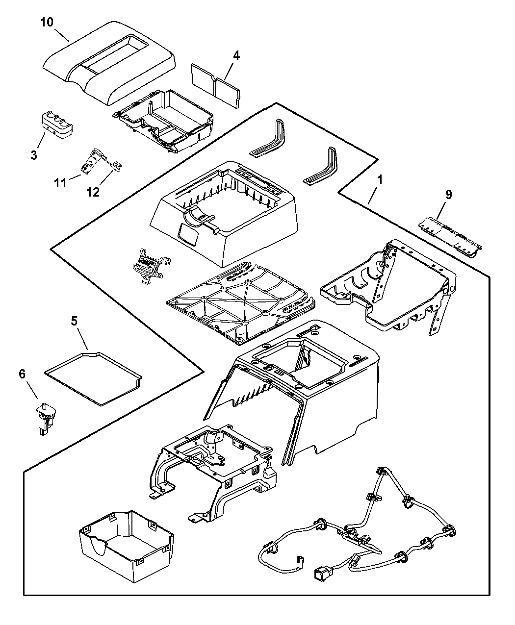 Genuine Dodge BOX/BIN-FLOOR