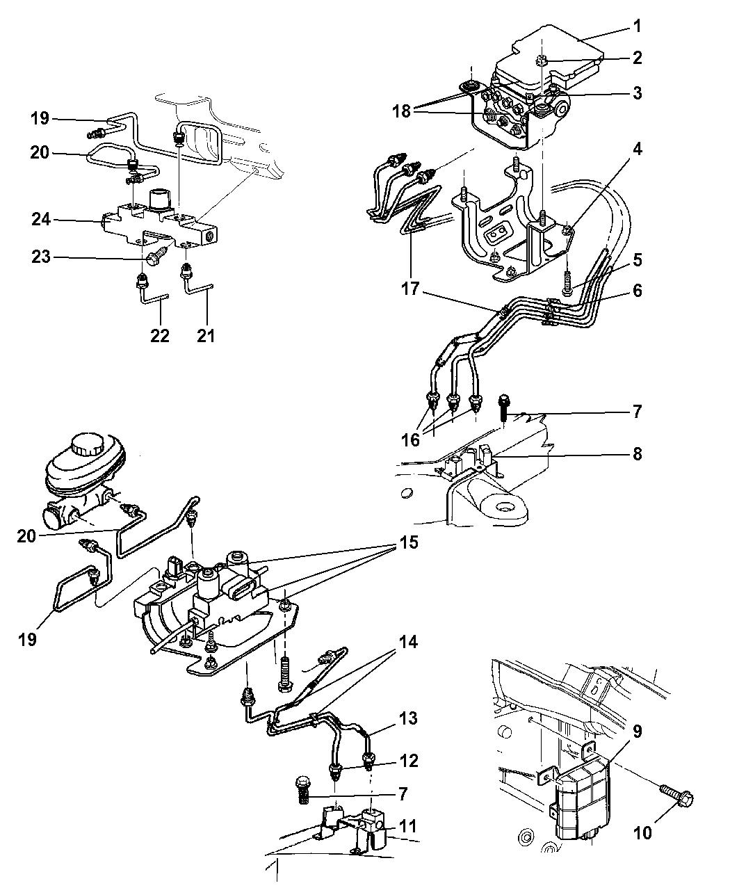 56028369ab Genuine Mopar Module Anti Lock Brake System