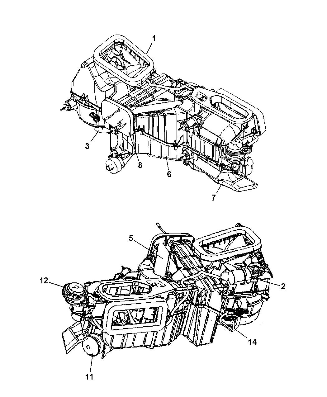 2006 Jeep Wrangler Heater Unit - Mopar Parts Giant