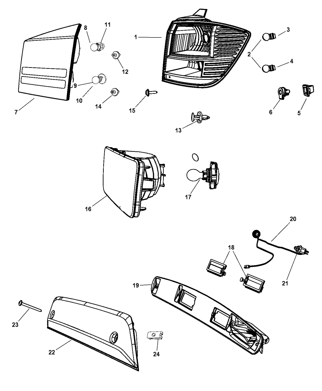 5178273ab Genuine Mopar Lamp Rear Fog