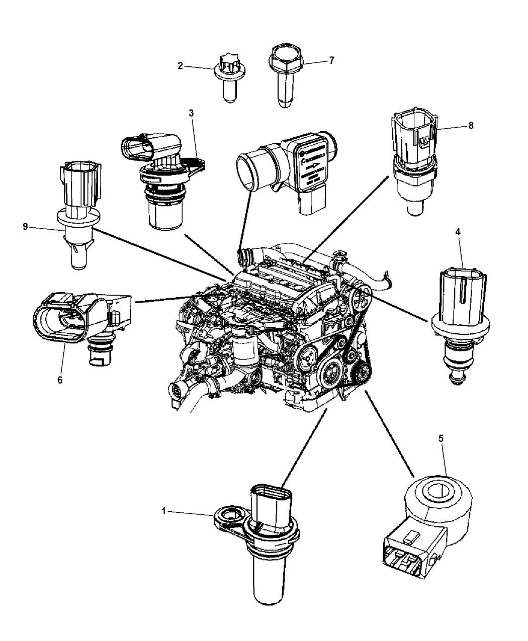 2013 Dodge Journey Sensors - Engine - Mopar Parts Giant