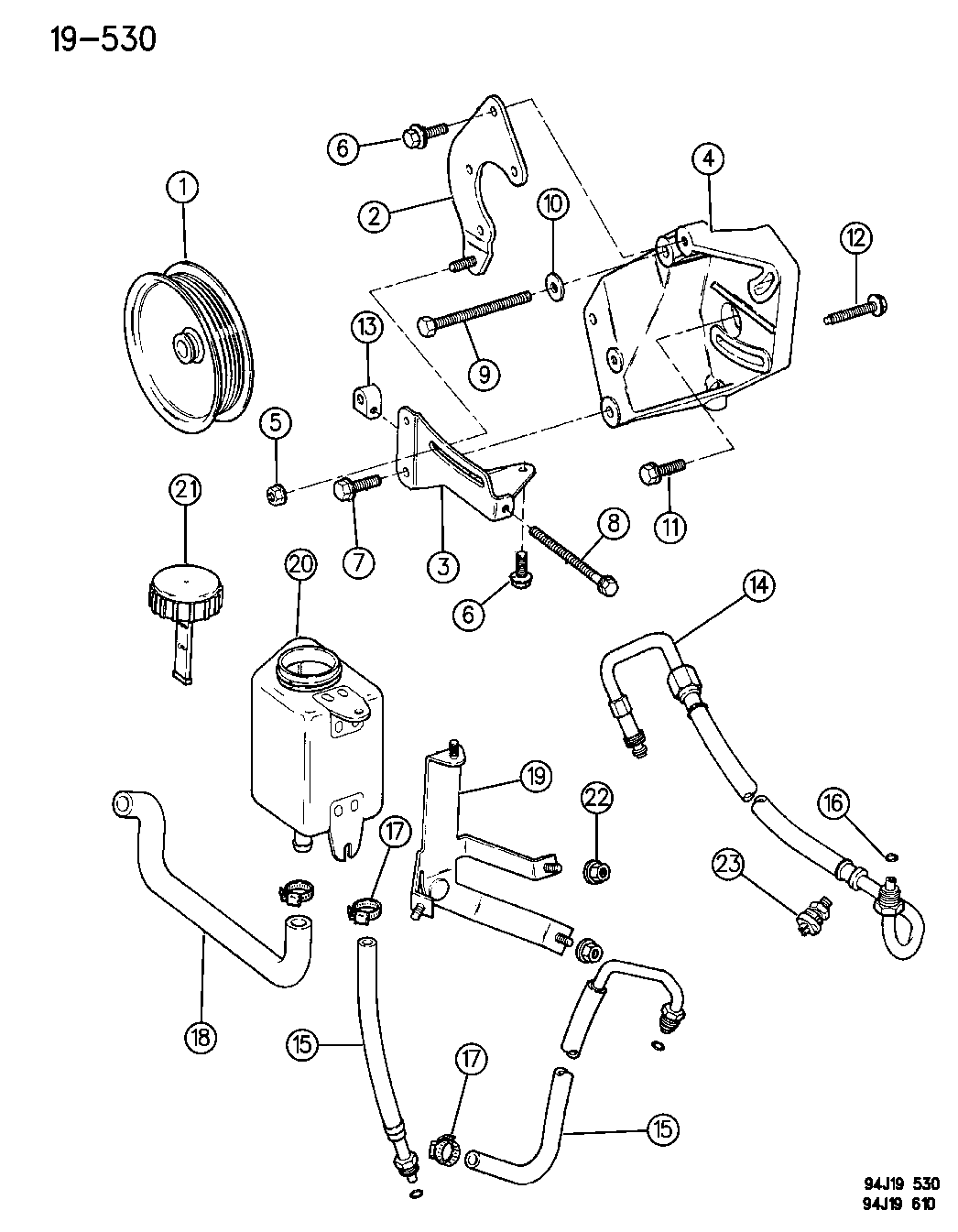 1995 jeep grand cherokee pump mounting
