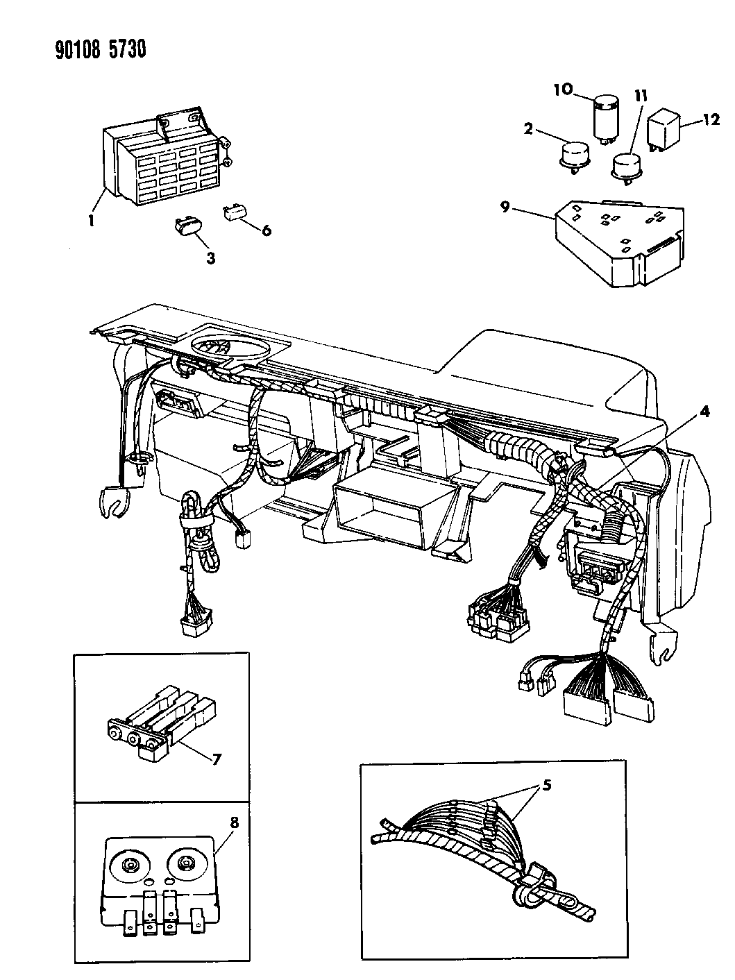 1990 dodge spirit wiring - instrument panel