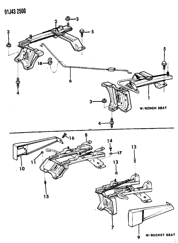 1992 jeep comanche tracks - seat