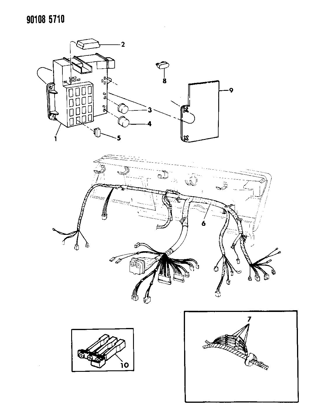 1990 Dodge Omni Wiring - Instrument Panel