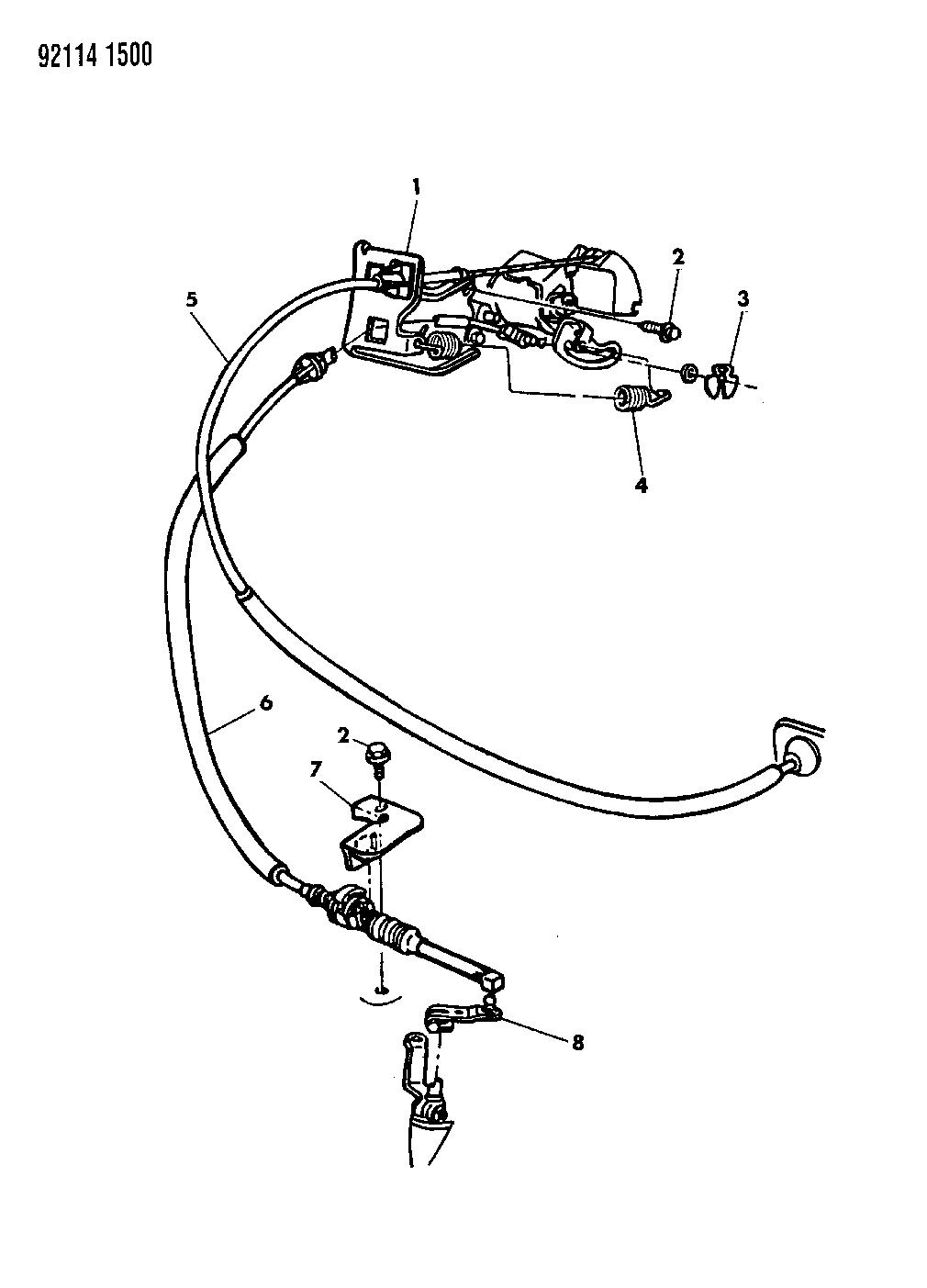 1992 Dodge Shadow Throttle Control Mopar Parts Giant Wiring Diagram Thumbnail 1