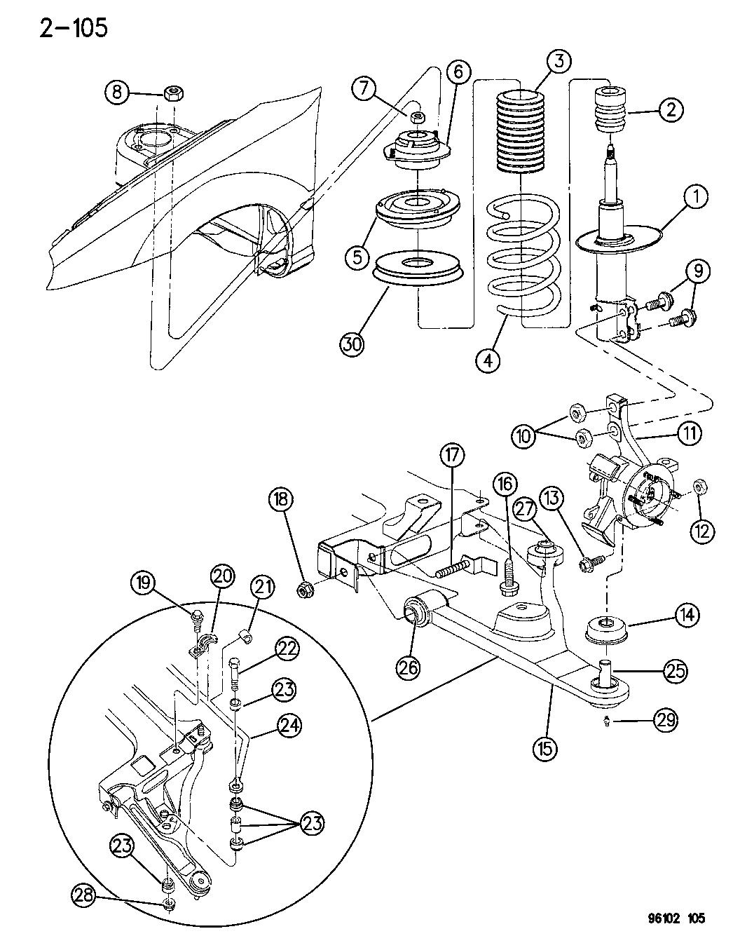 5273412 - genuine dodge spring-front suspension dodge neon suspension diagram mazda 6 front suspension diagram mopar parts giant
