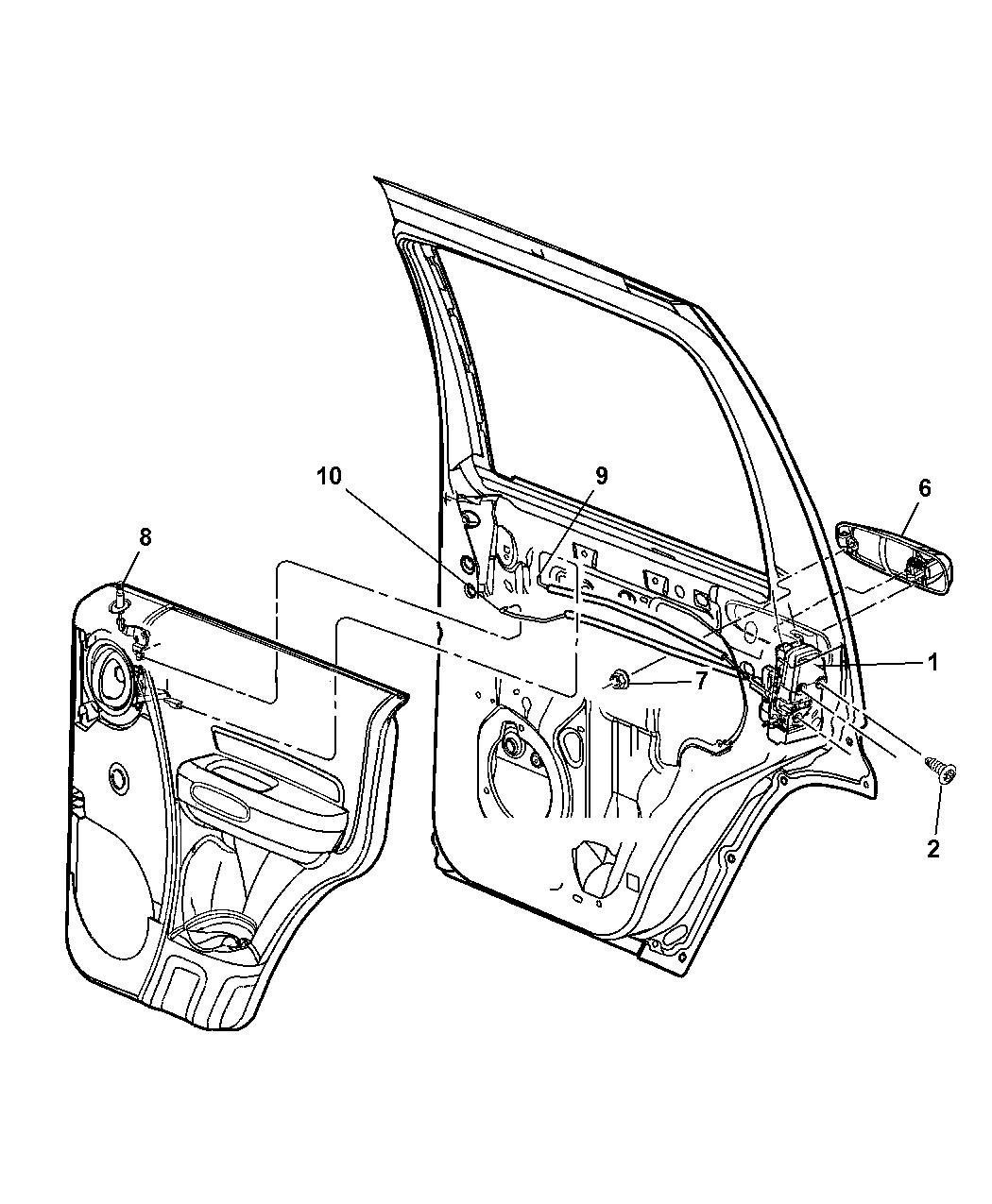 55177044aj - genuine jeep latch-rear door 2007 jeep liberty fuse diagram #2