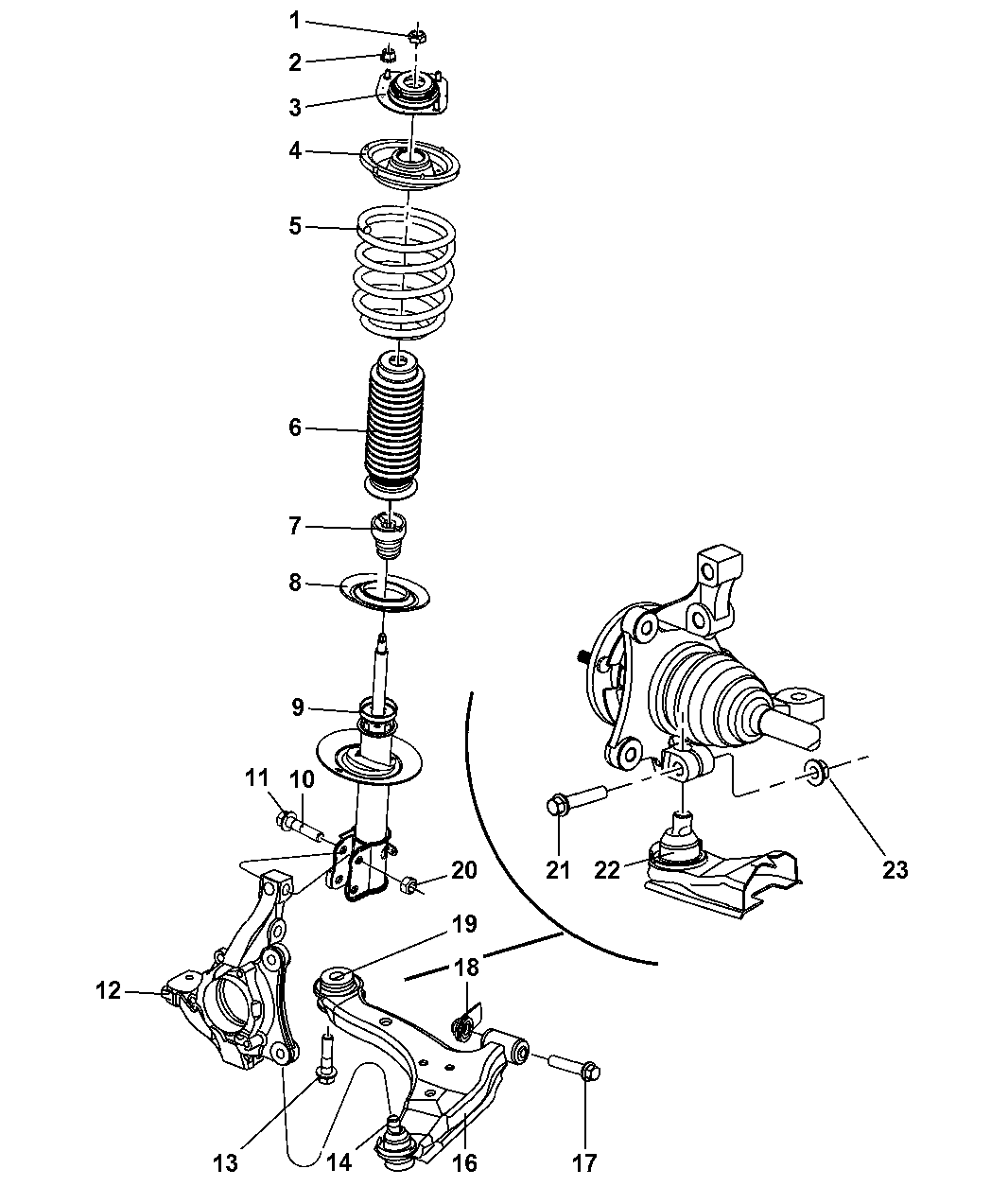pt cruiser front suspension diagram