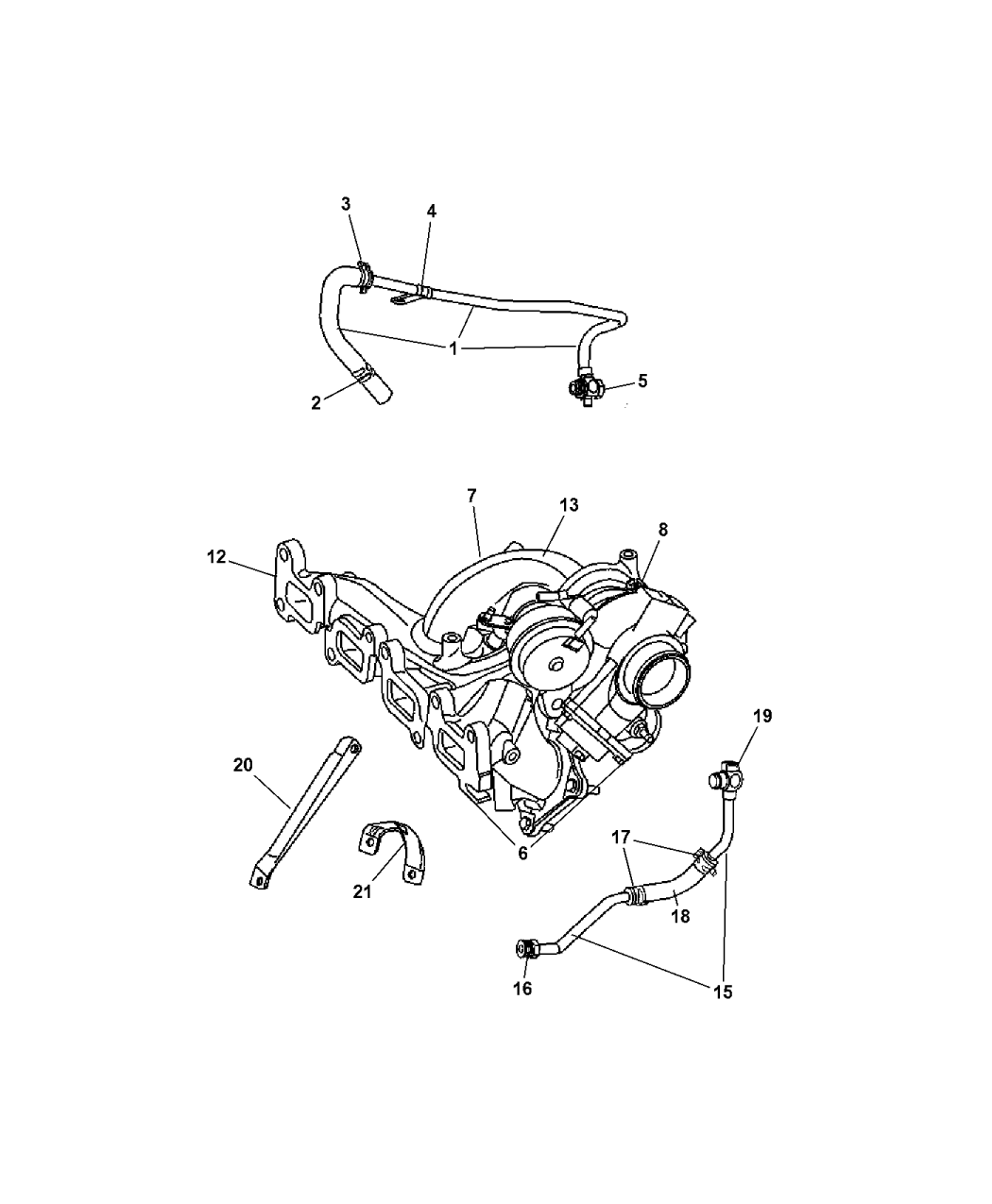 5073827ab genuine chrysler manifold exhaust